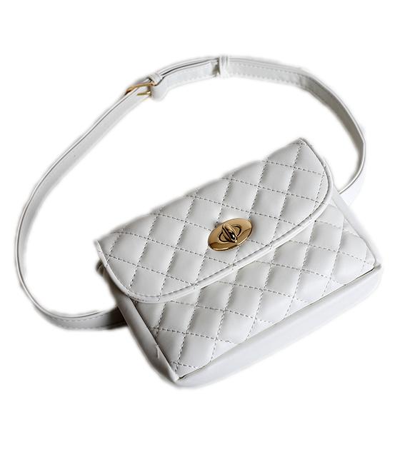 Λευκή τσάντα καπιτονέ
