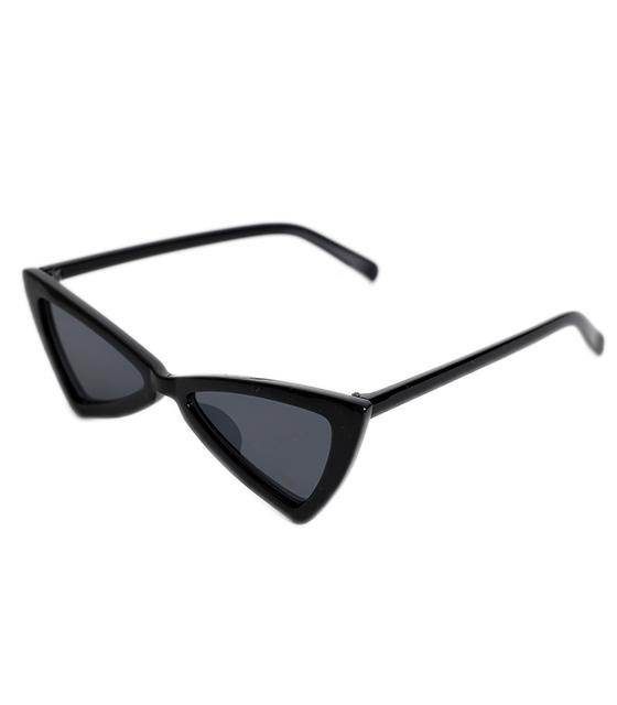 Μαύρα γυαλιά ηλίου γατίσια με γωνίες