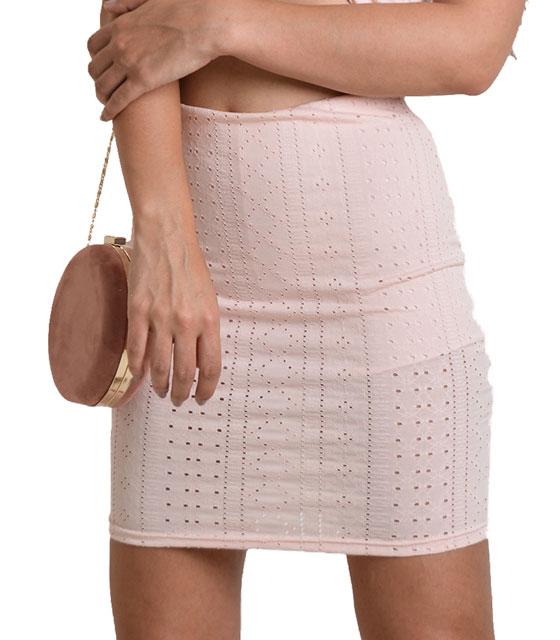 Tρυπητή φούστα (Ροζ)