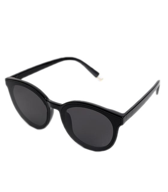 Στρόγγυλα γυαλιά ηλίου με μαύρο φακό (Μαύρο)