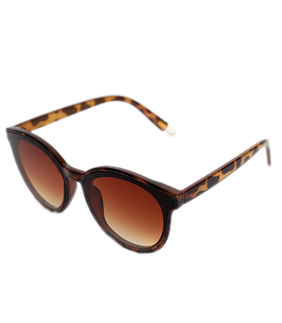 Στρόγγυλα γυαλιά ηλίου με καφέ φακό (Ταρταρούγα)