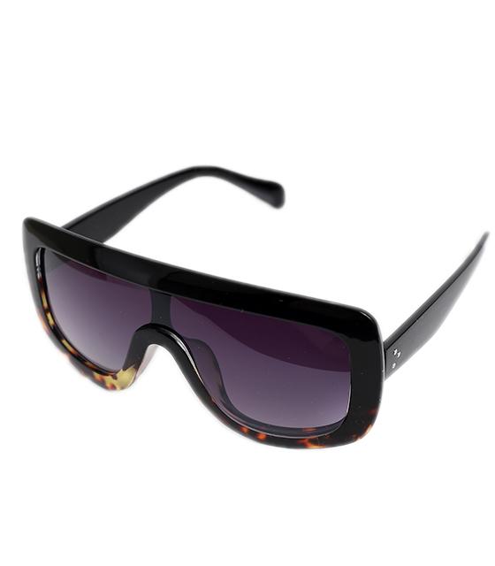 Γυαλιά ηλίου μάσκα με μαύρο φακό (Μαύρο/Ταρταρούγα)