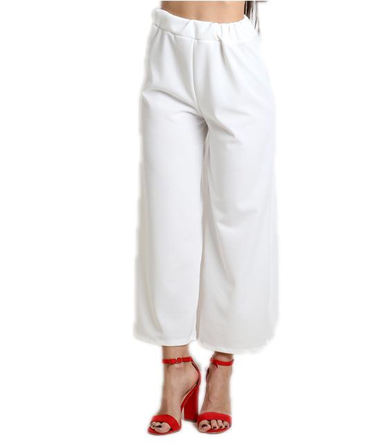 Ζιπ κιλότ (Λευκή) ρούχα   bottoms   παντελόνια