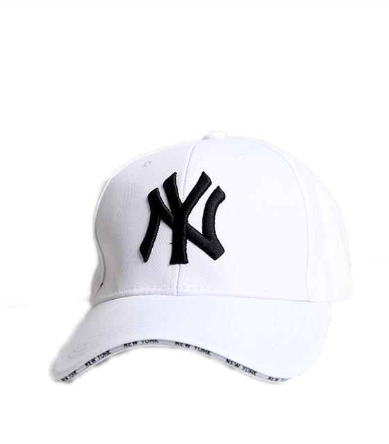 """Καπέλο jockey """"New York"""" (Λευκό)"""