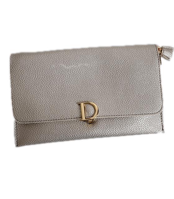 Τσάντα φάκελος δερματίνη με κούμπωμα μαγνήτη (Χρυσό)