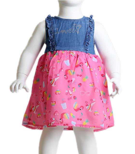 Βρεφικό φόρεμα με κρυφό φερμουάρ στο πίσω μέρος (Ροζ) παιδικά
