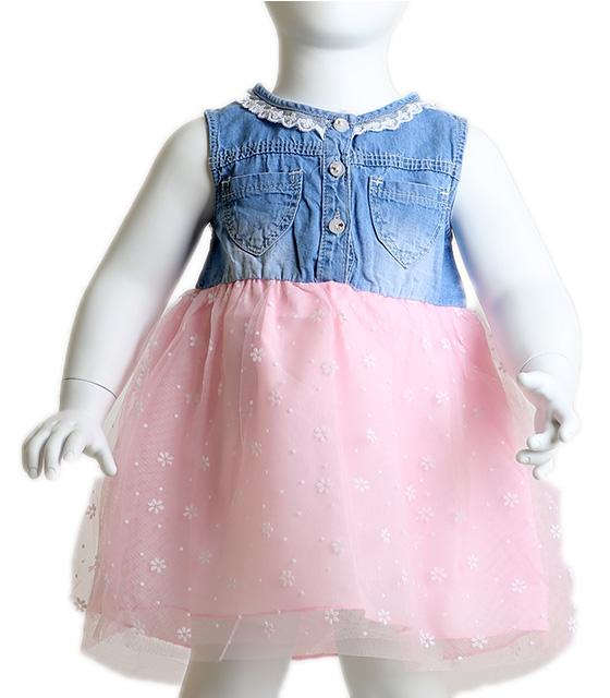 Βρεφικό φόρεμα με σχέδιο μαργαρίτες (Ροζ) παιδικά
