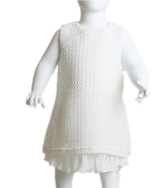 Βρεφικό φόρεμα δαντέλα αμάνικο (Λευκό) παιδικά