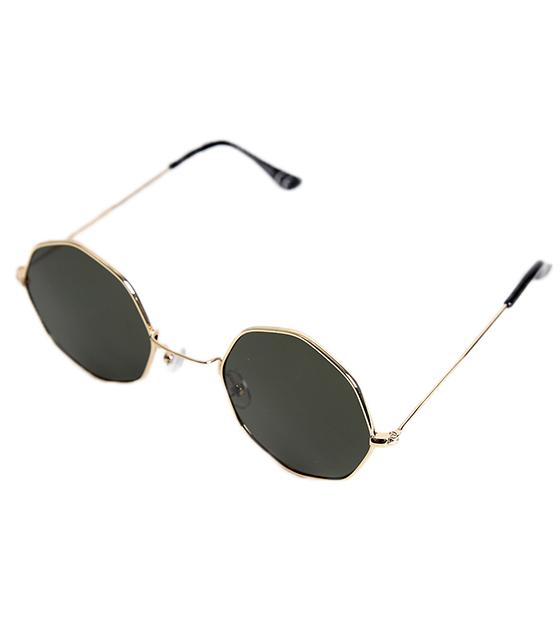Γυαλιά ηλίου με κίτρινο φακό και χρυσό σκελετό