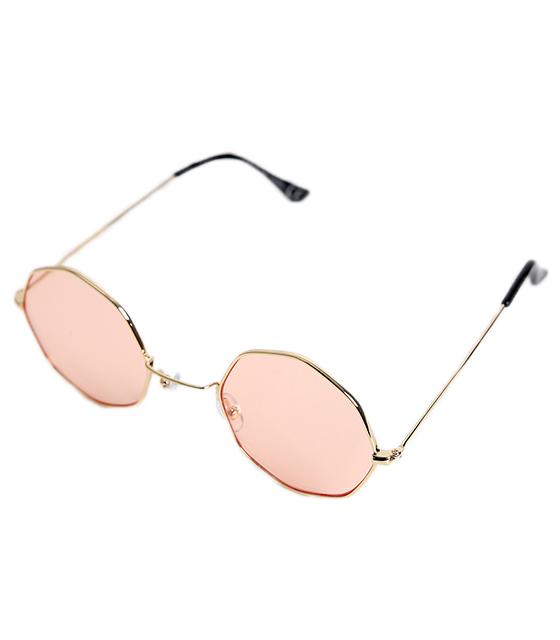 Γυαλιά ηλίου με ροζ φακό και χρυσό σκελετό