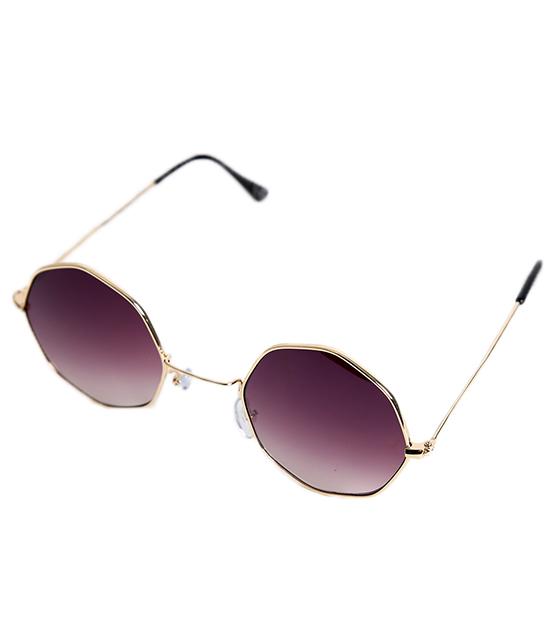 Γυαλιά ηλίου με μαύρο καθρέφτη φακό και χρυσό σκελετό