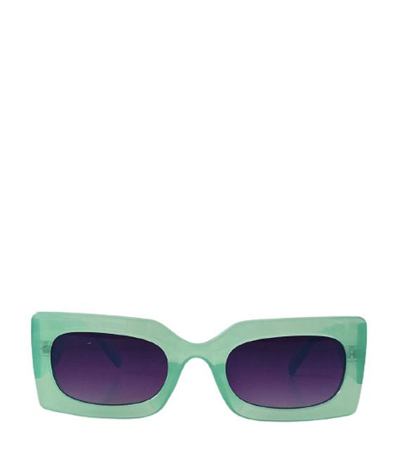 Κίτρινα τετράγωνα γυαλιά ηλίου με μαύρο σκελετό