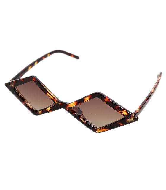 Πολυγωνικά γυαλιά ηλίου με καφέ φακό (Ταρταρούγα)