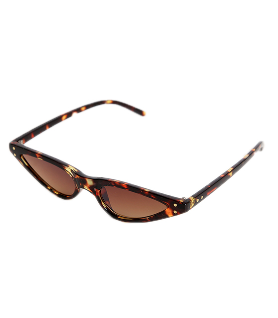 Γυαλιά Cat-Eye ταρταρούγα με καφέ φακό