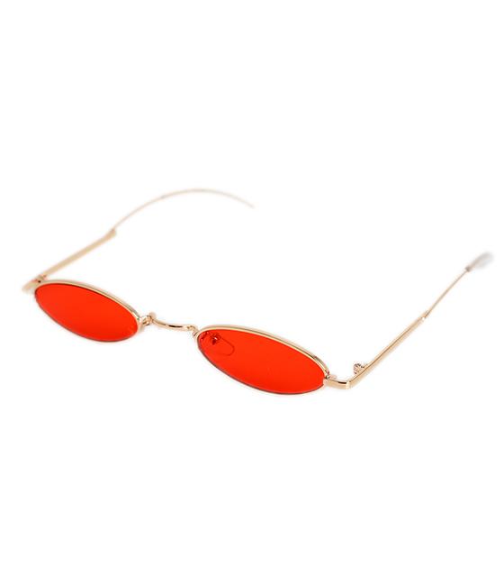 Γατίσια γυαλιά ηλίου με κόκκινο φακό και χρυσό σκελετό αξεσουάρ   γυαλιά