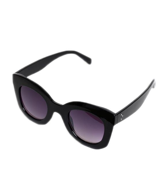 Μαύρα γυαλιά ηλίου με μαύρο φακό αξεσουάρ   γυαλιά