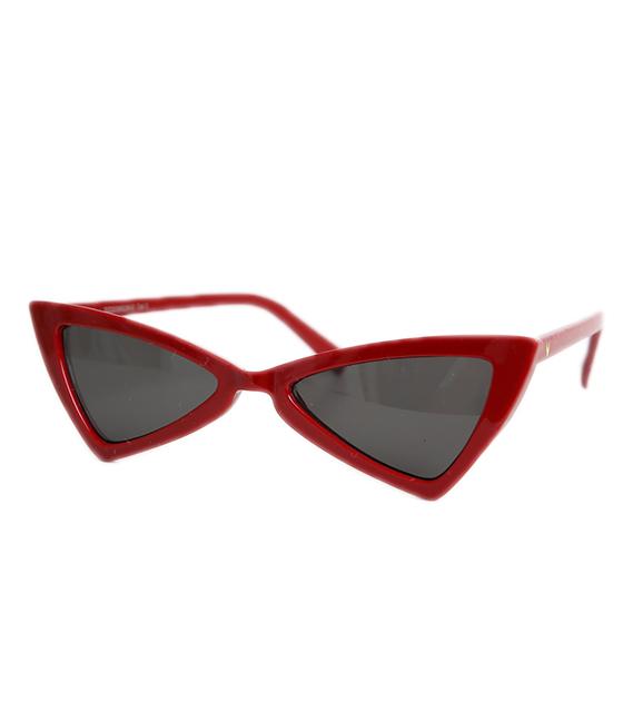 Μπορντό γυαλιά ηλίου γατίσια με γωνίες