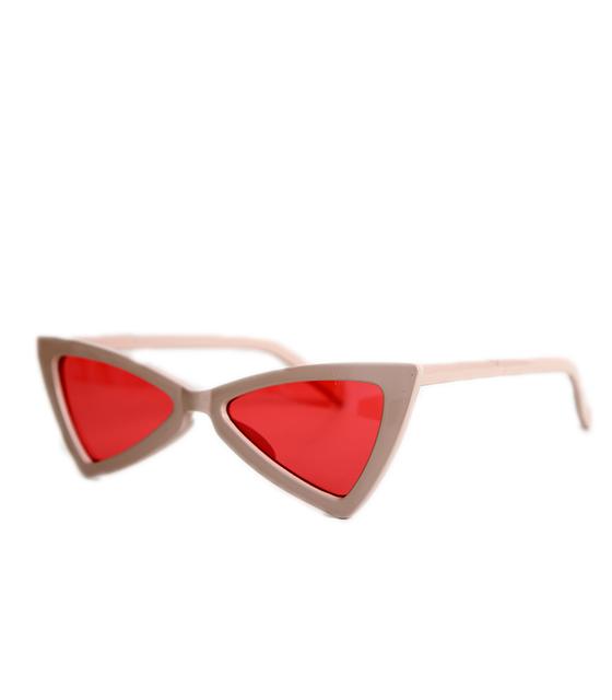 Ροζ γυαλιά ηλίου με φακό φούξια γατίσια με γωνίες