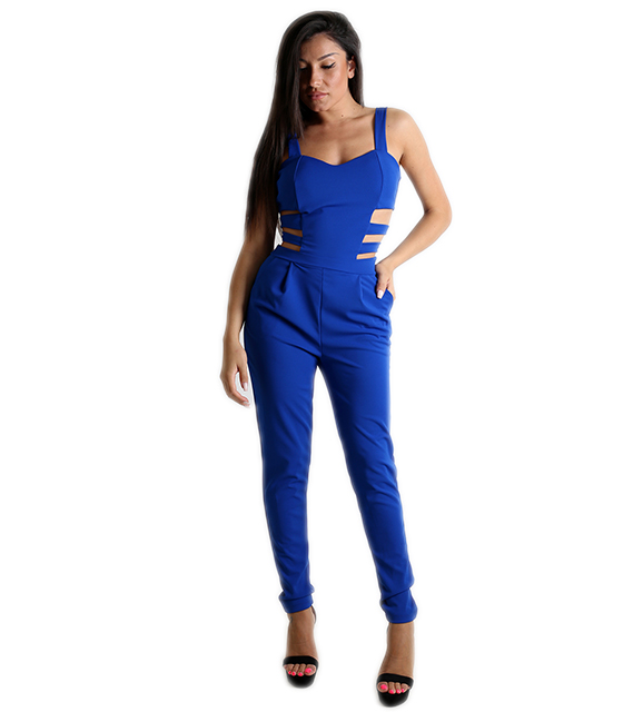 Ολόσωμη φόρμα με ανοίγματα (Μπλε)