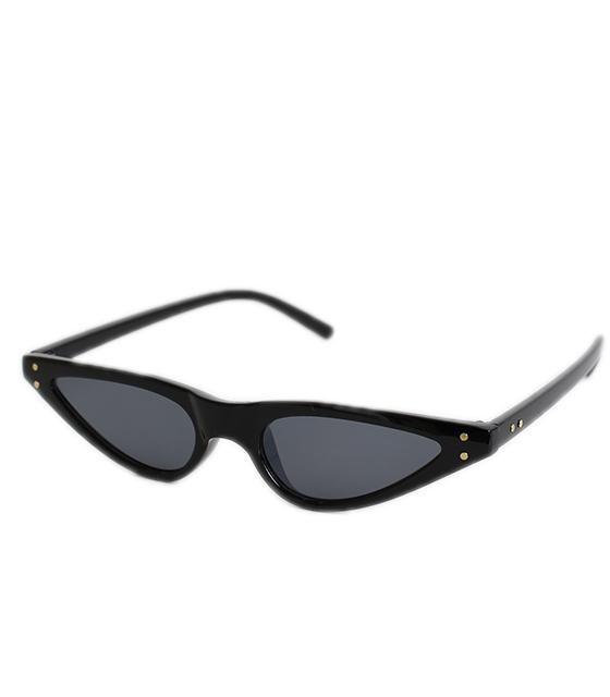 Γυαλιά Cat-Eye μαύρα με μαύρο φακό