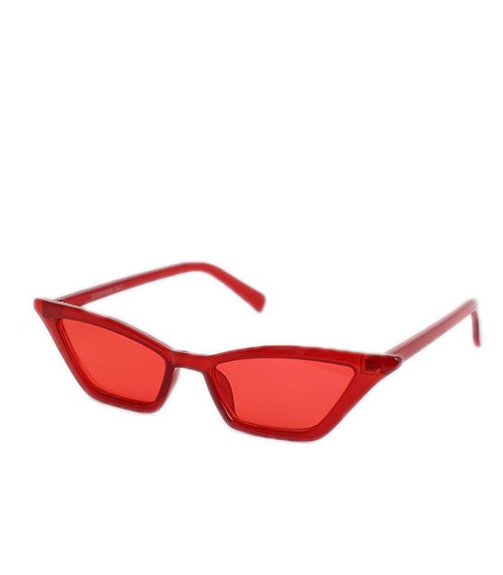 Γυαλιά Cat-Eye κόκκινο με κόκκινο φακό