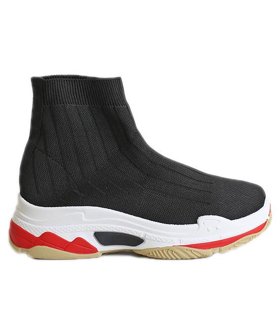 Μαύρο μποτάκι sneakers κάλτσα