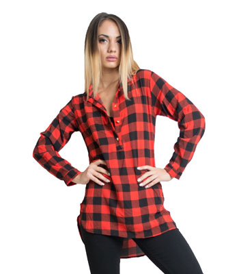 Chemise women checked