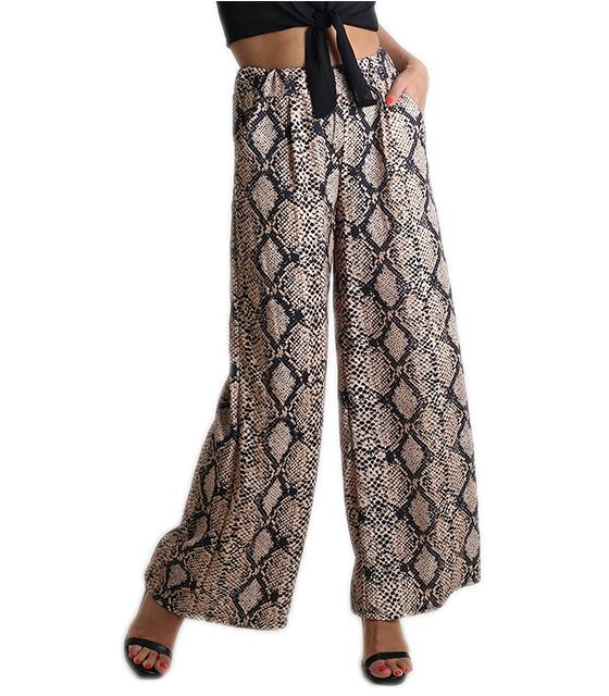 Φιδίσια παντελόνα με λάστιχο στην μέση