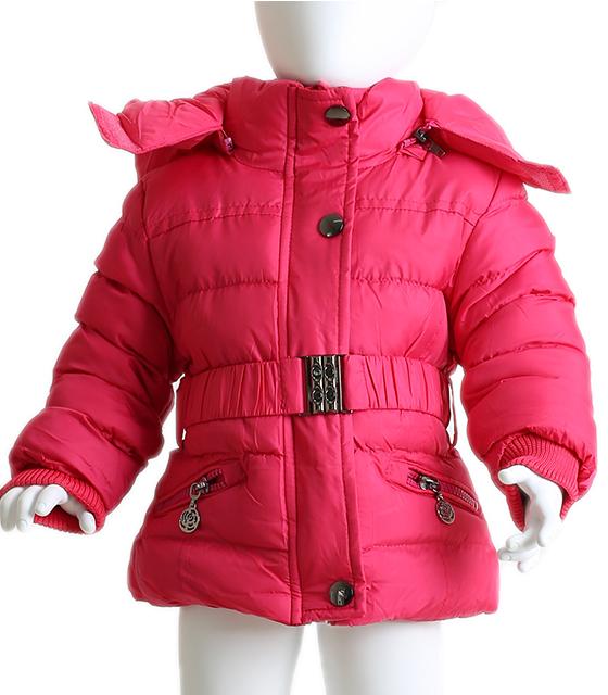 Βρεφικό μπουφάν με ζώνη και αποσπώμενη κουκούλα (Φουξ) παιδικά