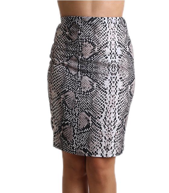 Μίντι φούστα με λάστιχο στην μέση (Φιδίσιο)