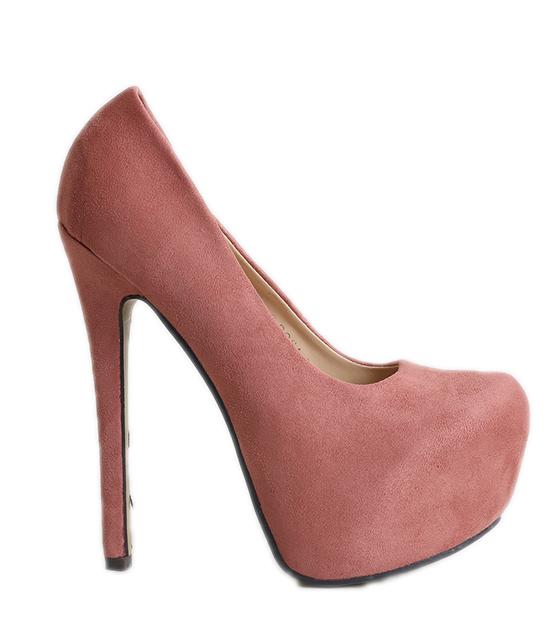 Ψηλές σουέτ γόβες ροζ