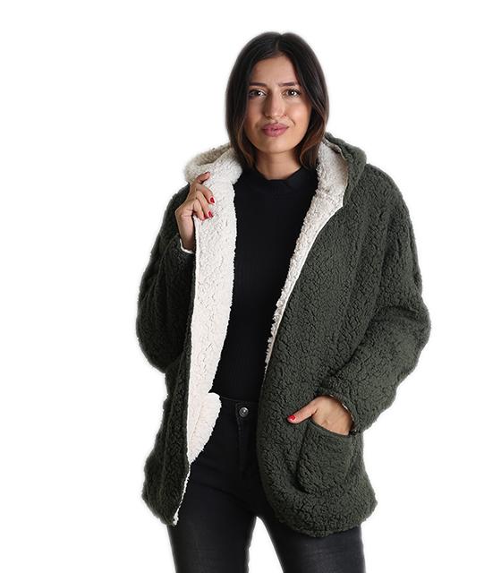 Ζακέτα φλις διπλής όψεως (Πράσινο) ρούχα   πανωφόρια