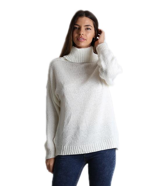 Λευκή μπλούζα πλεκτή ζιβάγκο ρούχα   πλεκτά