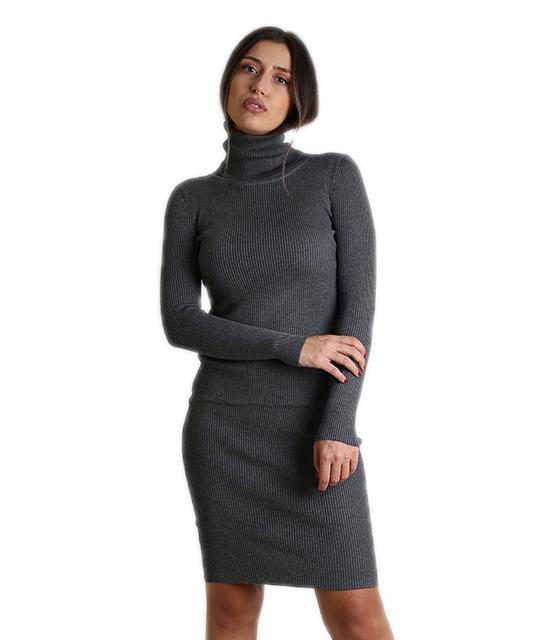 eb11a70aee40 Ριπ φόρεμα ζιβάγκο midi (Γκρι)