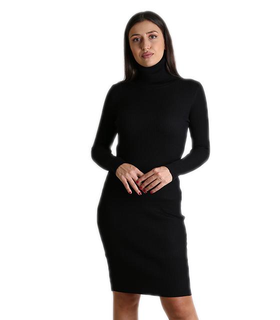 88f352bc03cc Ριπ φόρεμα ζιβάγκο midi (Μαύρο)