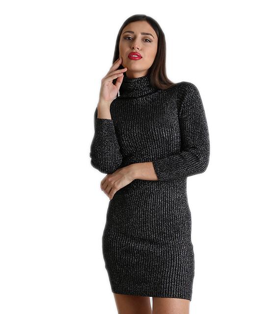 Ριπ φόρεμα ζιβάγκο midi λούρεξ (Γκρι Σκούρο) 189c3a4add4