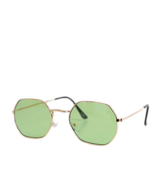 Γυαλιά ηλίου με πολύγωνο σκελετό και ανοικτό-πράσινο φακό αξεσουάρ   γυαλιά