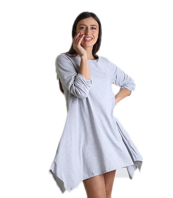 Γκρι φόρεμα φαρδύ