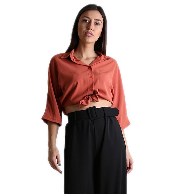 Μπλούζα με σούρα στο πίσω μέρος (Σομόν) ρούχα   μπλούζες   top