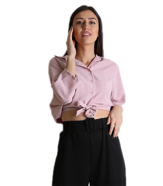 Μπλούζα με σούρα στο πίσω μέρος (Ροζ) ρούχα   μπλούζες   top