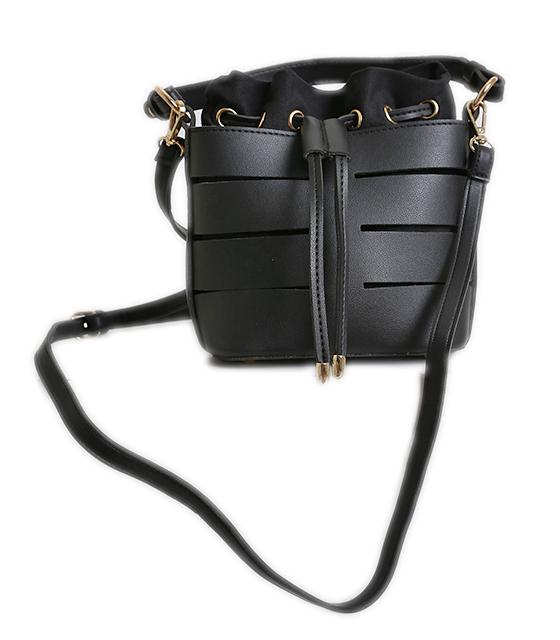 Τσάντα πουγκί με χρυσές λεπτομέρειες (Μαύρο) τσάντες