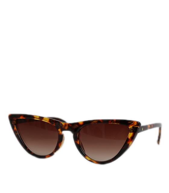 Cat-Eye γυαλιά ηλίου ταρταρούγα με καφέ φακό