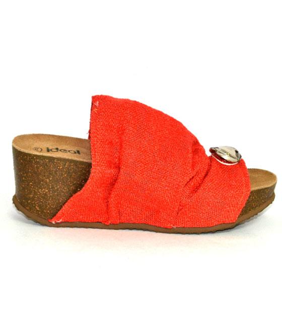 Anatomic coral high cotton sandal