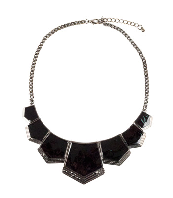 Black metal necklace