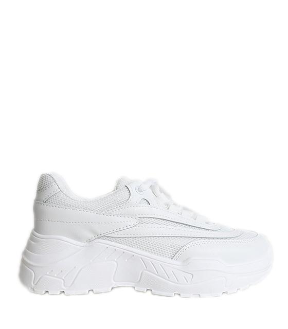 Sneakers λευκό με κορδόνια