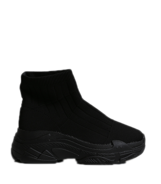 Μαύρο sneakers κάλτσα