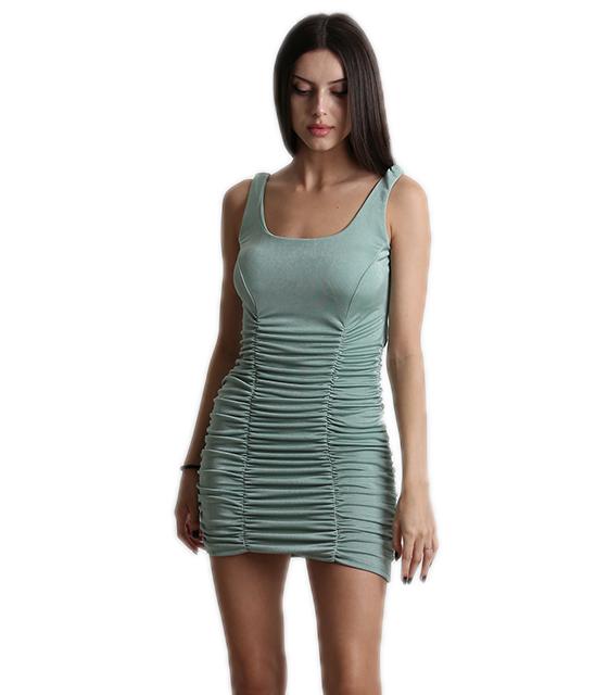 Εφαρμοστό φόρεμα σουρωτό με επένδυση (Βεραμάν)