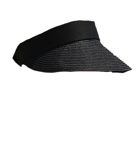 Μαύρο ψάθινο καπέλο